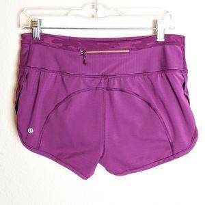 Lululemon purple running shorts size 6